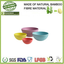 customer hand painted colorful bamboo fibre snack,rice,fruit bowl