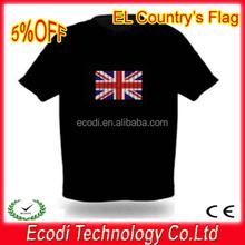 Be different!!!el led t-shirt ,led tshirt,led flashing tshirt for pub