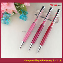 Custom logo crystal pen, logo engraving crystal pen set, logo printing crystal pen