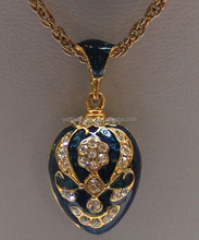 China factory jewelry pendant maker,wholesale faberge egg pendant with crystal