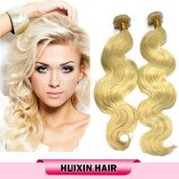 6A-7A virgin blond remy hair/ human hair bundles/ russian virgin hair