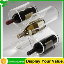 High Custom Tabletop Fashionable Acrylic Wine Bottle Display Holder