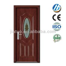 p-38 push door handles with glass pvc coated wood door