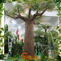 Artificial fake plastic large decorative breadfruit baobab trees for sale