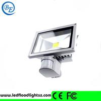High efficiency photo bf white/warm led Motion flood light with sensor 30w