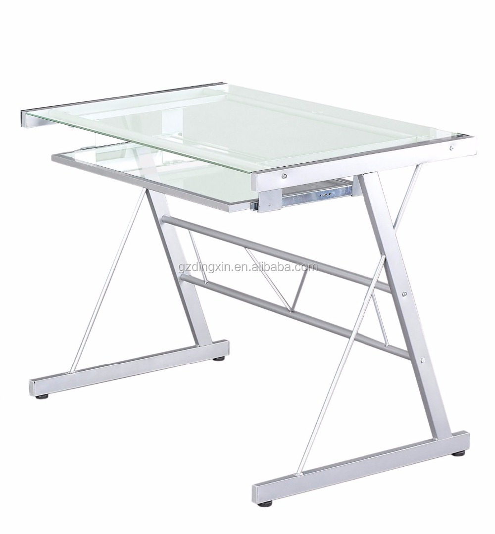 White High Gloss Office Computer Desk Assembly