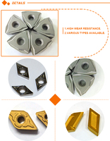High efficient cemented Carbide milling inserts,TPKN2204 P30 Polished cnc turning tool inserts, tungsten carbide milling inserts