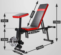 DUMBBELL BENCH GYM INCLINE/DECLINE/FLAT
