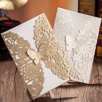 Chinese factories directly sale fold wedding cards