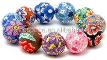 Cheap Imitate Polymer Clay Button Charms Snap Leather Bracelet