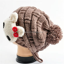 Best quality useful cat knitted kids hat