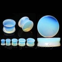Customized Design Stone Ear Gauges Wholesale Natural Organic Opal Stone Plugs
