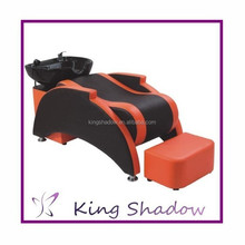 2015 orange color hair salon shampoo chairs salon furniture shamnpoo bed shampoo unit