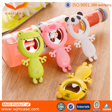 Ghost shape silicone cheap bottle openers with stainless steel
