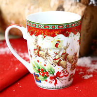 14OZ Ceramic Christmas Reindeer Mug