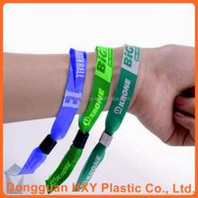 HXY 20mm*350mm cheap custom woven nylon wristband for events