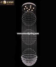Contemporary Design Lead K9 Crystal Chandeliers Ceiling Hanging Lamps Lights Lighting Fixtrures CZ8021/9