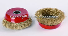 crimped wire polishing cup brush