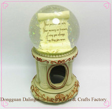 High quality fashionable snow globe decoration with Lover Letter inside