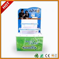 life fibre floor bread stand stacker ,leisure food pop stand for advertising ,leading retail pet foods hook displays