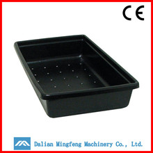 Black high quality perforated plastic trays