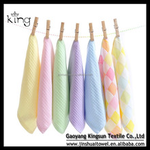 30*30 Colorful Dould Sides Bamboo Fabric Face Towel Wholesale