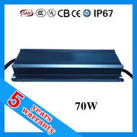 5 years warranty high PFC waterproof IP67 LED 70W driver