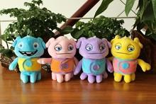 cartoon movie 18cm alieni farmi folle peluche giocattoli oh boov bambola farcito giocattolo su scatola giocattolo