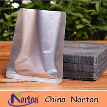 custom silver aluminum foil bag, heat seal food packaging bag with best price NTP- ALF387B