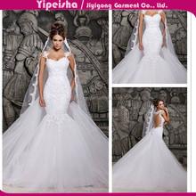 European style 2015 shoulders tail bride wedding dress