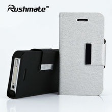 For Apple iphone 4G 4S Silver PU Luxury Leather Case