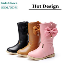 2015 Best selling oem kids long boots/kids leather boots/kids fancy boots