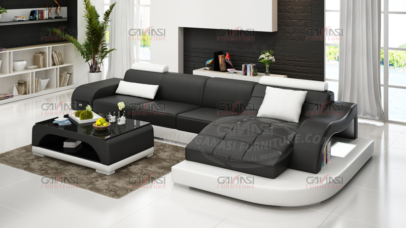 ganasi black and white leather sofa soft line leather