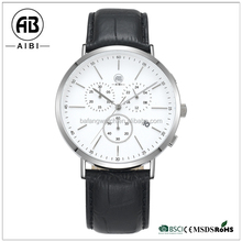 good quality with own logo stainless steel case wrist watch brand for men leather