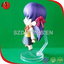China supplier lovely PVC mini girl plastic action figure