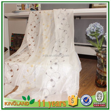 HOT luxury embroidery curtain designs bathroom sheer window curtain fabric in South America