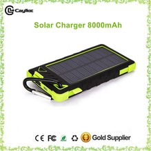 travel solar chargers 8000mah with solar panel 0.6W for mobilephone