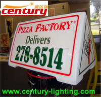 led taxi cab top sign display light box with full magnets