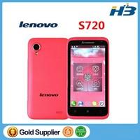 instock Original Lenovo S720 mobile phone MTK6577 Dual Core 512MB+4G Dual SIM 4.5 IPS Android 4.0 Pink White Russian Language