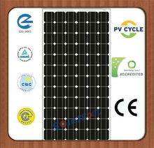 high efficiency 190w monocrystalline solar panel module 190w with TUV UL CE IEC MCS