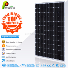 Powerwell Solar 300w Mono Super Quality & Competitive Price With CE,CEC,IEC,TUV,ISO,CHUBB,INMETRO Standard Pv Solar Panel Price