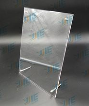 Top quality new products clear acrylic l-shape sign menu holders