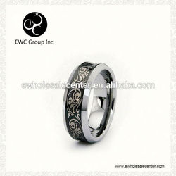 clear tungsten ring inlay resin