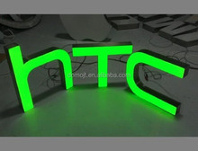 Clear with led channel letter sign logo