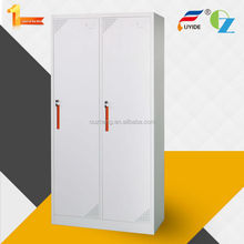 High quality knock down structure patent handle 2 door electronic lock clothing steel locker/ wardrobe