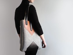 Women/Lady Fashion Felt Tote Bag