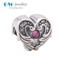 Del corazón de plata tibetanos venta al por mayor Engravable Charms X284