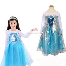 elsa frozen dress and frozen elsa princess dress sexy frozen elsa dress cosplay QKC-5048