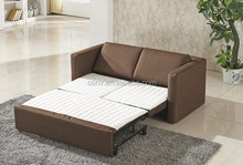 Brown Fabric With Mattress Pull Out Sofa Bed