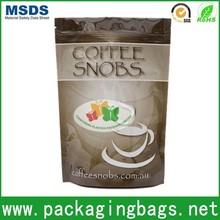 food grade zip lock plastic bag bottom gusset foil laminat material for food packing